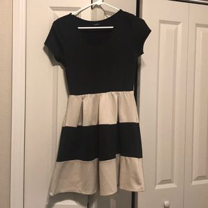 Adorable black and off white (cream) dress!